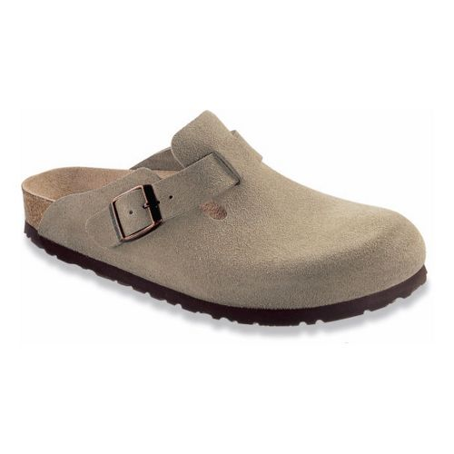 Birkenstock Boston Soft Footbed Casual Shoe - Taupe Suede 40