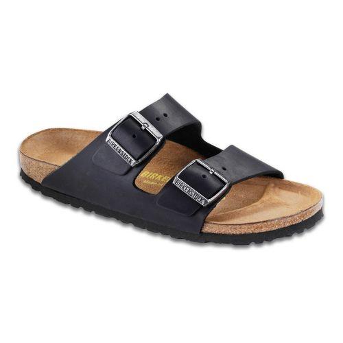 Birkenstock Arizona Sandals Shoe - Black Oiled Leather 44