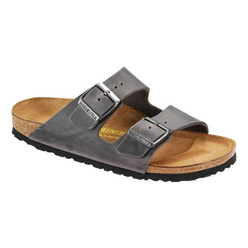 Birkenstock Arizona Sandals Shoe - Iron Oiled Leather 39