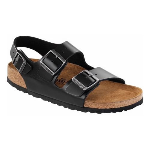 Birkenstock Milano Soft Footbed Sandals Shoe - Black 40