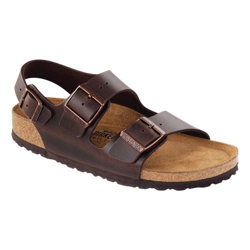 Birkenstock Milano Soft Footbed Sandals Shoe - Brown 46