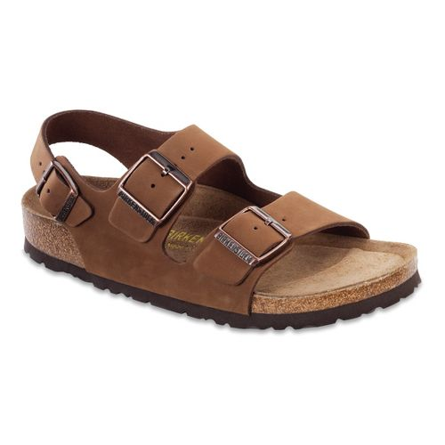 Birkenstock Milano Soft Footbed Sandals Shoe - Cocoa Nubuck 46