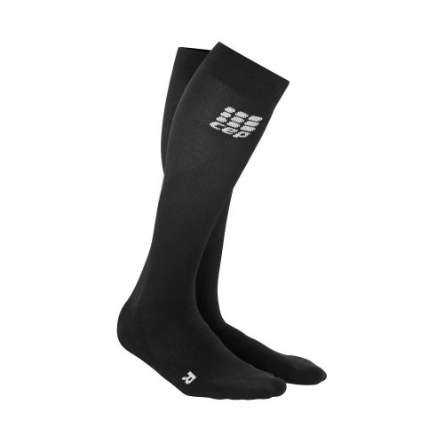Mens CEP Progressive+ Run Compression Socks 2.0 Injury Recovery - Black/Black M