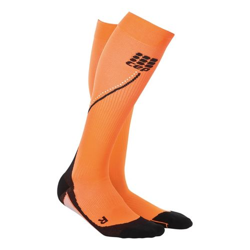 Mens CEP Progressive+ Night Running Compression Socks 2.0 Injury Recovery - Flash Orange XL