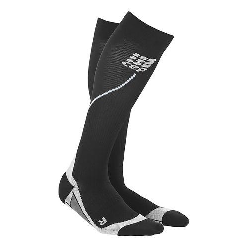 Womens CEP Progressive+ Run Compression Socks 2.0 Injury Recovery - Black/Black L