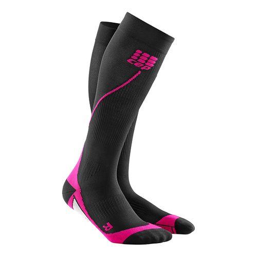 Womens CEP Progressive+ Run Compression Socks 2.0 Injury Recovery - Black/Pink M