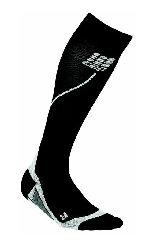 Womens CEP Progressive+ Run Compression Socks 2.0 Injury Recovery - Black/Grey M