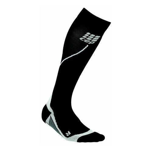Womens CEP Progressive+ Run Compression Socks 2.0 Injury Recovery - Black/Grey L
