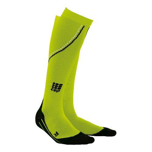Womens CEP Progressive+ Night Running Compression Socks 2.0 Injury Recovery - Flash Green M