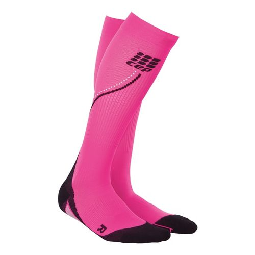 Womens CEP Progressive+ Night Running Compression Socks 2.0 Injury Recovery - Flash Pink M