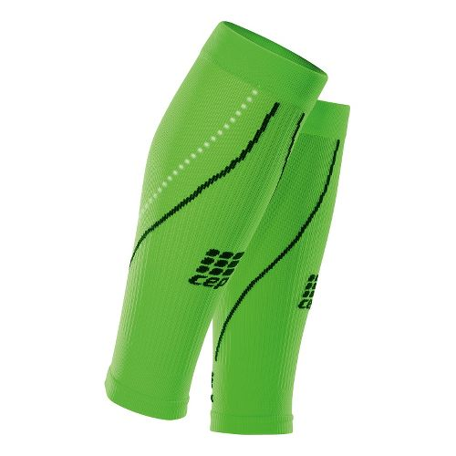 Mens CEP Progressive+ Night Running Compression Calf Sleeves 2.0 Injury Recovery - Flash Green M