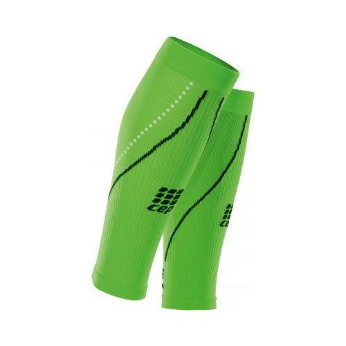 Womens CEP Progressive+ Night Running Compression Calf Sleeves 2.0 Injury Recovery - Flash Green S