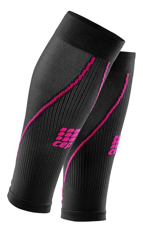 Womens CEP Progressive+ Compression Calf Sleeves 2.0 Injury Recovery - Black Pink L
