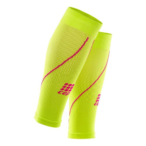 Womens CEP Progressive+ Compression Calf Sleeves 2.0 Injury Recovery - Lime/Pink S