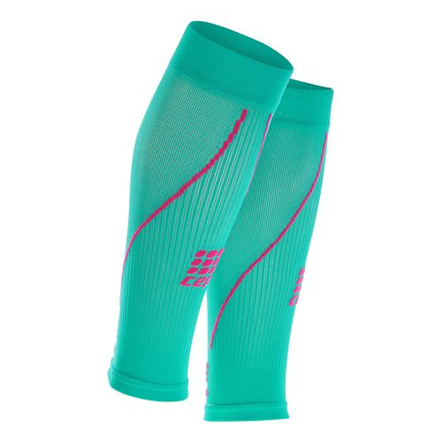 Womens CEP Progressive+ Compression Calf Sleeves 2.0 Injury Recovery - Lagoon/Pink M