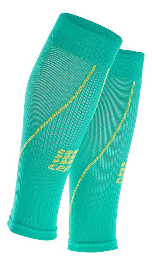 Mens CEP Progressive+ Compression Calf Sleeves 2.0 Injury Recovery - Lagoon/Lime M