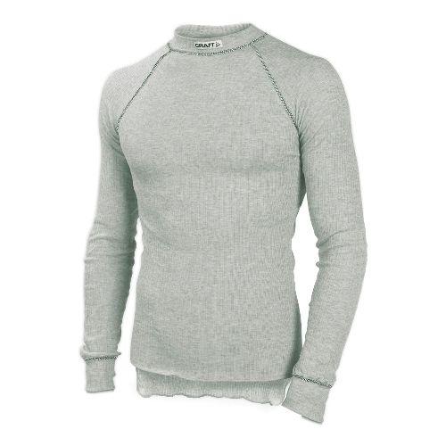 Mens Craft Active Crewneck LS Long Sleeve No Zip Technical Top - Grey M