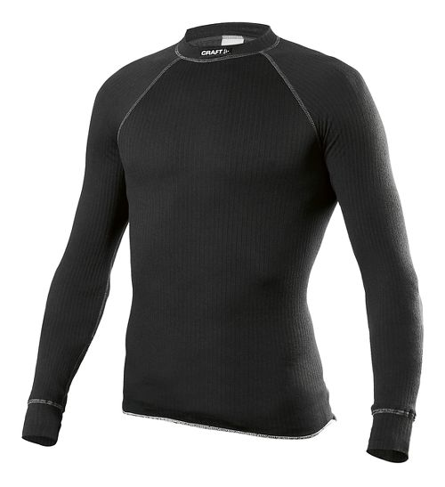 Mens Craft Active Crewneck Long Sleeve Technical Top - Black XL