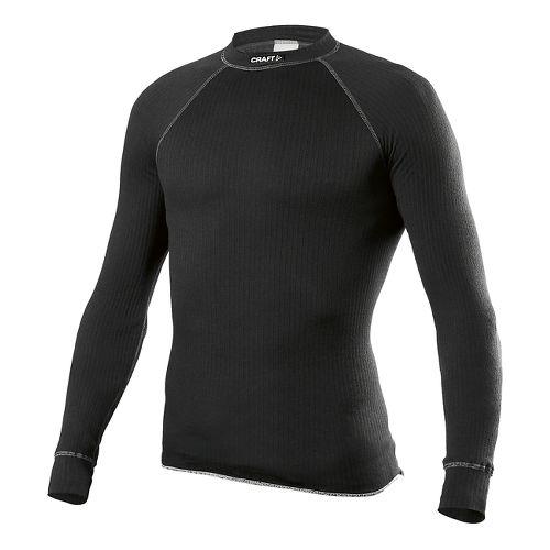 Mens Craft Active Crewneck LS Long Sleeve No Zip Technical Top - Black XS