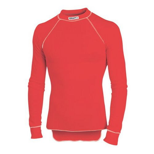 Mens Craft Active Crewneck Long Sleeve Technical Top - Red L