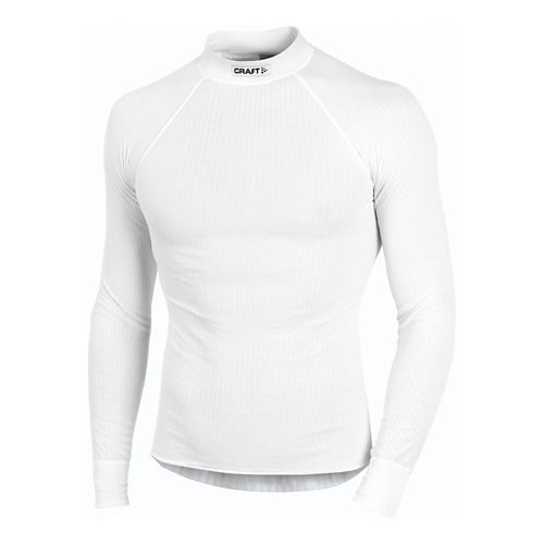 Mens Craft Active Crewneck LS Long Sleeve No Zip Technical Top - White S