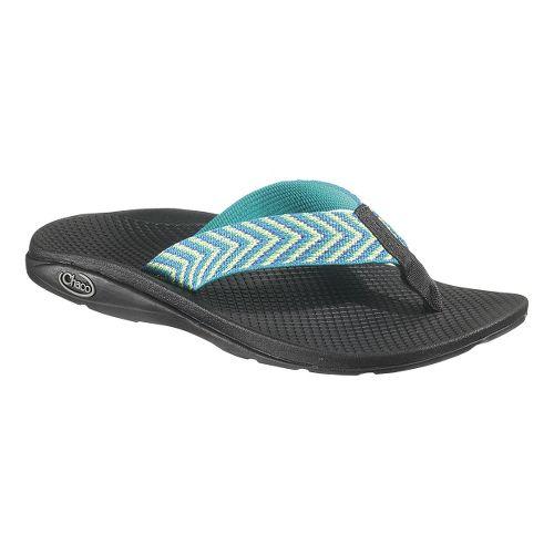 Womens Chaco Flip EcoTread Sandals Shoe - Fiesta Blue 8