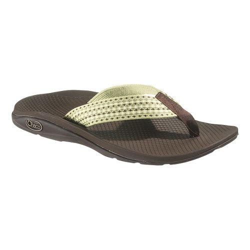 Womens Chaco Flip EcoTread Sandals Shoe - Leaf Piles 10