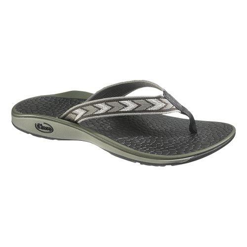 Mens Chaco Fathom Sandals Shoe - Chevronic Grey 10