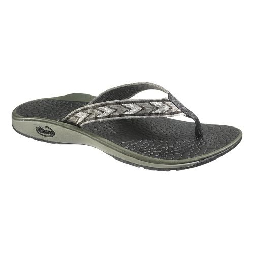 Mens Chaco Fathom Sandals Shoe - Chevronic Grey 14