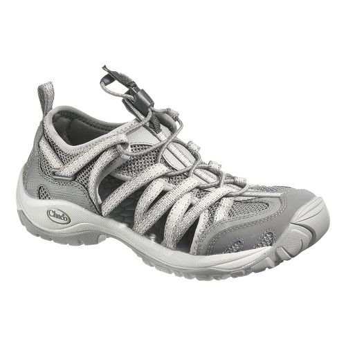 Womens Chaco OutCross Lace Trail Running Shoe - Steel 6.5
