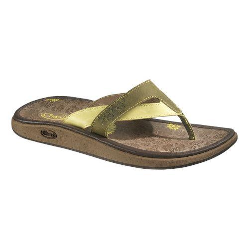 Womens Chaco Palma Flip Sandals Shoe - Celery 7