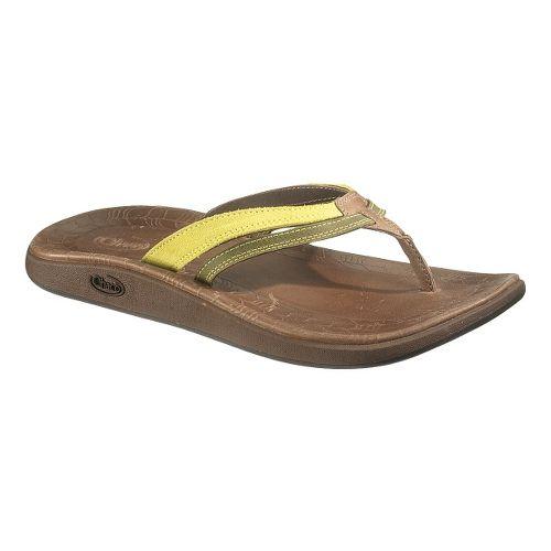 Womens Chaco Harper Flip Sandals Shoe - Celery 5
