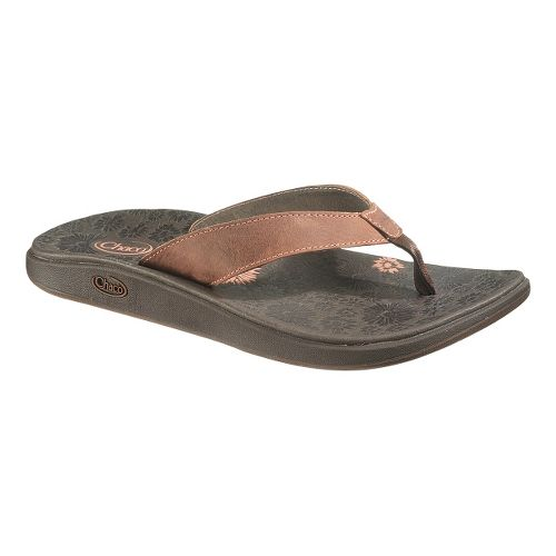 Womens Chaco Jacy Flip Sandals Shoe - Burnt Coral 5