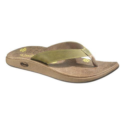 Womens Chaco Jacy Flip Sandals Shoe - Celery 9
