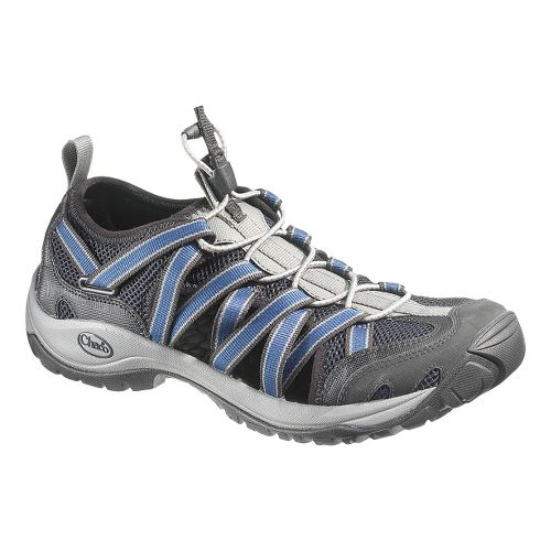Mens Chaco OutCross Lace Trail Running Shoe - Steel 9