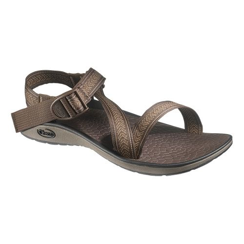 Mens Chaco Mighty Sandals Shoe - Tracks Brown 15