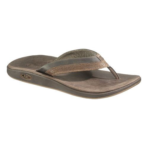 Mens Chaco Kellen Flip Sandals Shoe - Bison 11