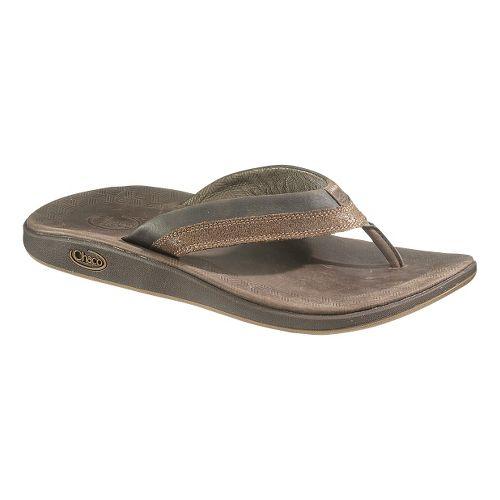 Mens Chaco Kellen Flip Sandals Shoe - Bison 13