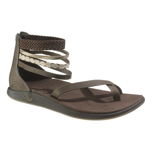 Womens Chaco Dawkins Sandals Shoe - Chocolate Brown 5