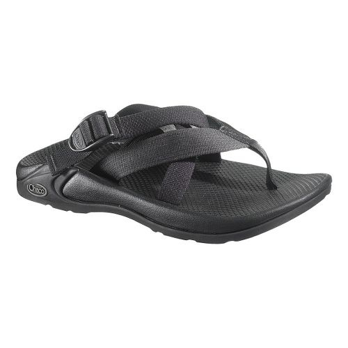 Mens Chaco Hipthong Two EcoTread Sandals Shoe - Black 8