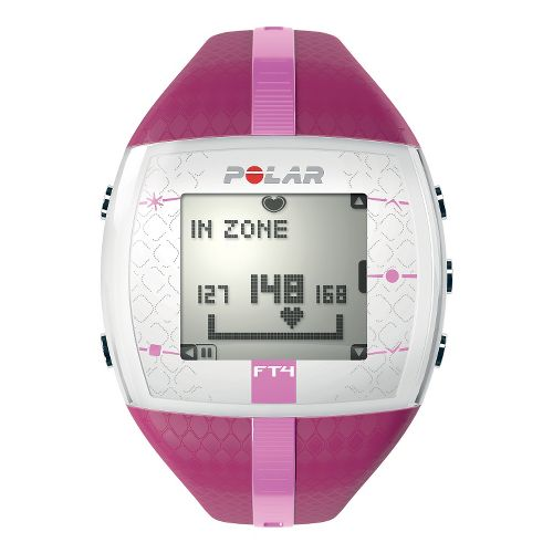 Womens Polar FT4 Heart Rate Monitor Monitors - Pink/Purple