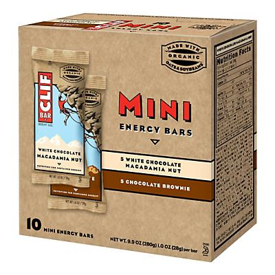 Clif Bar Mini's Variety Pack 10 count Nutrition