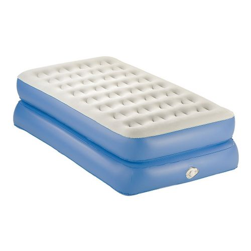 Coleman AeroBed Twin Double High Air Mattress - White/Blue