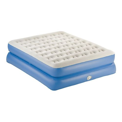 Coleman AeroBed Queen Double High Air Mattress - White/Blue