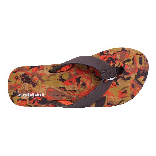 Mens Cobian Floater Sandals Shoe - Orange 8