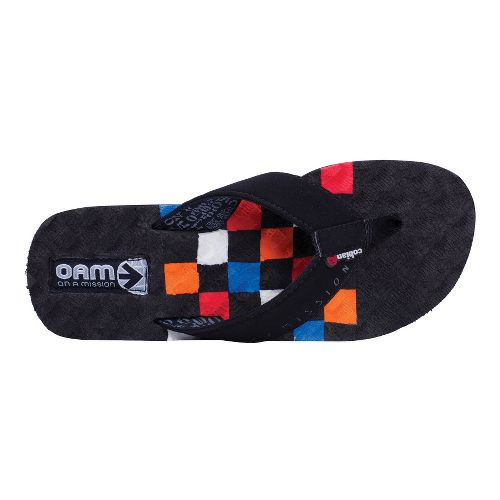 Mens Cobian OAM Traction Pad Sandals Shoe - Checkerboard 9