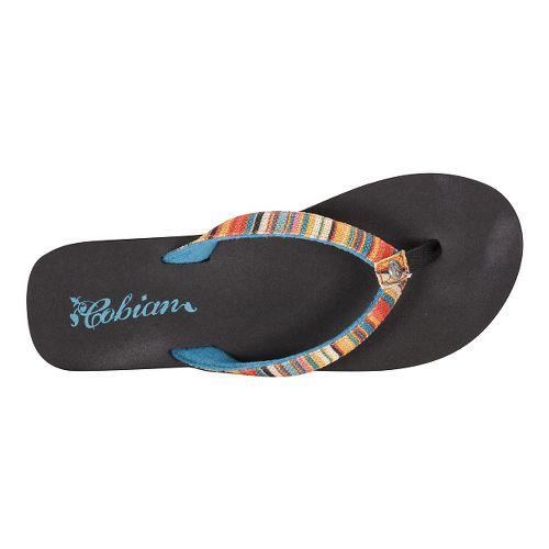 Womens Cobian Fiesta Skinny Bounce Sandals Shoe - Striped 8