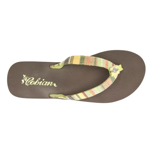 Womens Cobian Fiesta Skinny Bounce Sandals Shoe - Lime 7