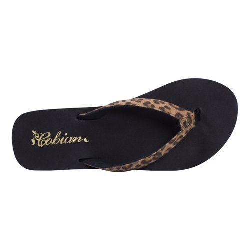 Womens Cobian Fiesta Skinny Bounce Sandals Shoe - Leopard 9