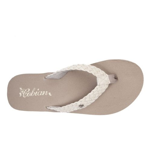 Womens Cobian Braided Bounce Sandals Shoe - Cream 10